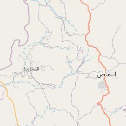 النماص على خريطة المملكة العربية السعودية خريطة الموقع الوقت المحدد