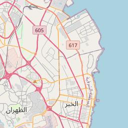 الخبر الدمام المسافة بين المدن كم ميل اتجاهات القيادة طريق