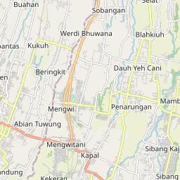 Denpasar Kabupaten Badung Jarak Antara Kota Km Mi Mengemudi Arah Jalan