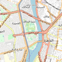 القاهرة بولاق الدكرور المسافة بين المدن كم ميل اتجاهات القيادة طريق