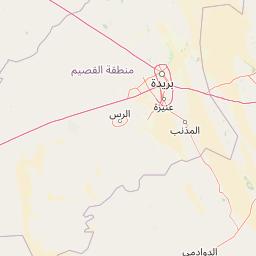 الرياض بريدة المسافة بين المدن كم ميل اتجاهات القيادة طريق