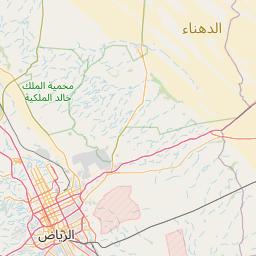 الرياض القصب المسافة بين المدن كم ميل اتجاهات القيادة طريق
