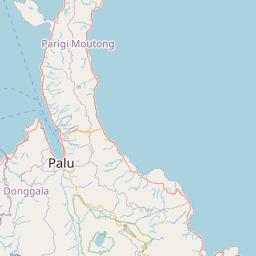 Palu Kabupaten Luwu Utara Jarak Antara Kota Km Mi Mengemudi Arah Jalan