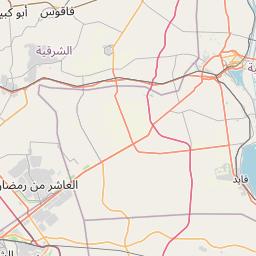 القاهرة قويسنا المسافة بين المدن كم ميل اتجاهات القيادة طريق